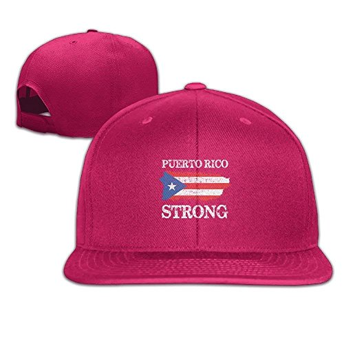 Puerto Rico Strong Funny falt Hat Adjustable Baseball Cap -