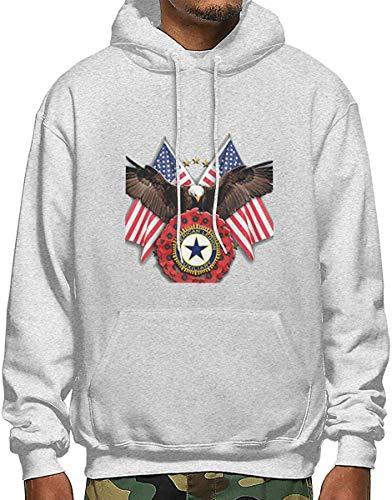 SKDJFBUD American Legion Auxiliary Men\'s Polyester Hoodie Pocket Sweater Jackets Gr. XX-Large, 126
