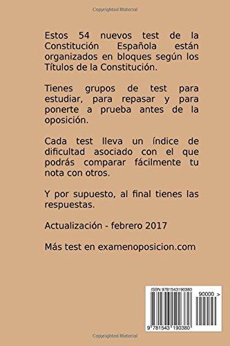 Constitución Española para Opositores: Exámenes tipo Test para aprobar la Oposición