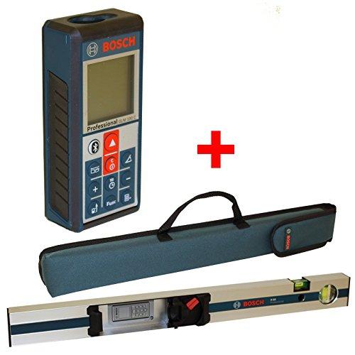 Preisvergleich Produktbild Bosch Laser Entfernungsmesser GLM 100 C inkl Messschiene R 60 mit Neigungsmesserfunktion,  Messlatte
