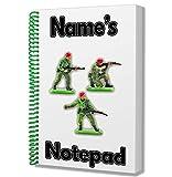 Armee Soldaten Personalisiertes Geschenk–A5Notizblock/Notebook–Zeichnen Doodles Tagebuch Notizen