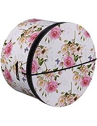 Lierys Hutschachtel Hutbox Pink Flowers 42 cm für Damen Hutbox Hutschachtel Hutzubehör Winter Sommer