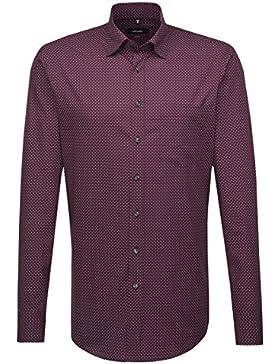 SEIDENSTICKER Herren Hemd Comfort 1/1-Arm Bügelleicht City-Hemd Button-Down-Kragen Kombimanschette weitenverstellbar