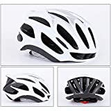 HUOFEIKE Profi-Fahrradhelm, Radhelm, Mountainbike-Lüftung und winddichtem Adjustable Head Size Sports Fahrradhelm, Male/Female,White