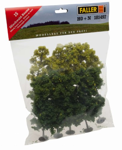 Faller 181497 Mxd Forest Trees HO/N 15/Scenery and Accessories Building Kit