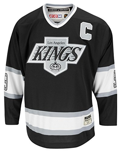 Wayne Gretzky Los Angeles Kings CCM Black Premier Jersey