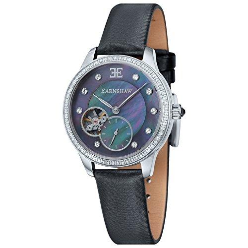 Thomas Earnshaw - ES-8029-01 - Australis - Montre Femme - Automatique Analogique - Cadran Nacre - Bracelet Cuir Noir