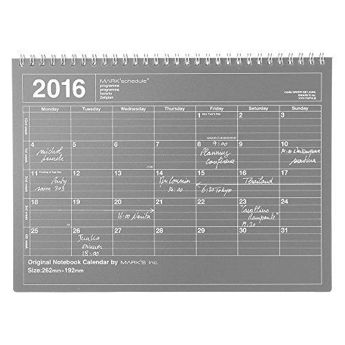 MARK'S 2016 Tischkalender M // Black