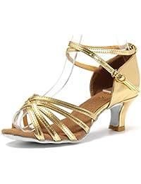 misu - Zapatillas de danza para mujer Dorado dorado, color Dorado, talla 37.5