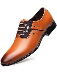 Zapatos de Cordones para Hombre, Zapatos de Hombre de Cuero PU, Zapatos de Vestir Hombre, Zapatos Casuales Zapatos Bajos de Bandas…