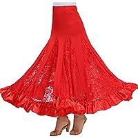 Jupe Danse Orientale Danse Robe Jupe de swing en dentelle satiné de danse  internationale Vêtement 3571660c4a7
