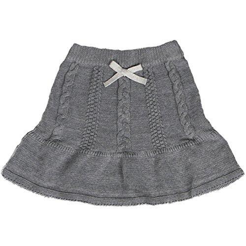 JELEUON Little Girls Fashion Autumn Winter Fine Knit A-line Sweater Skirt 80cm