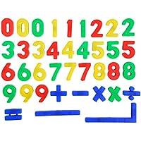 Art & Fun - Números magnéticos, color rojo / verde / amarillo / azul (Simba 4591457)
