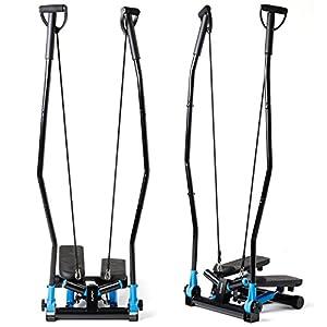 Elitum Swing Side Stepper NX-600 mit Haltegriffen und Trainingsbändern, Ausdauertraining für Zuhause und Büro