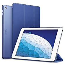 ESR Trifold Smart Case for iPad Air 3 2019, Auto Sleep/Wake Lightweight Stand Case, Hard Back Cover Smart Case, Navy Blue