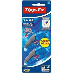 Tipp-Ex Soft Grip Ruban Correcteur Blister de 2