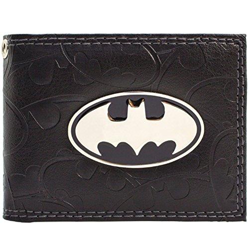 DC Comics Batman Symbole Abzeichen u Bat Schwarz Portemonnaie (Die Kostüme Robin Batman Alten Und)