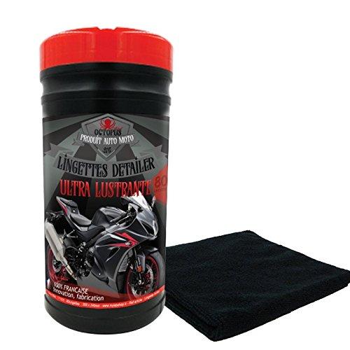 Toallitas limpiadoras y abrillantadoras para motos