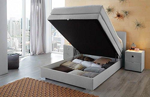 Amelie Boxspringbett 140×200 cm mit intergriertem Bettkasten by Wohnorama