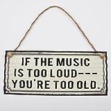 Blechschild Loud Music 13x30cm