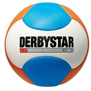 Derbystar Beachsoccer Neu, Weiss/Orange/Blau, Gr. 5