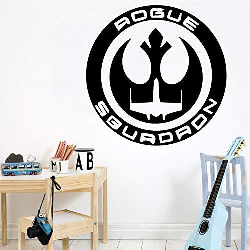 TYLPK Im europäischen Stil wasserdichte Wandsticker Wandkunst Dekor für Kinderzimmer Home Decor abnehmbare Dekor Wandtattoos schwarz M 30 cm x 30 cm