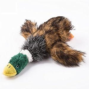 Jouets en peluche pour animaux de compagnie, Jouet en peluche pour chanteur Carry Stone Le canard sauvage Squeaker Honking Toys Jouets à mâcher pour chiot animal de compagnie Utile et pratique pour