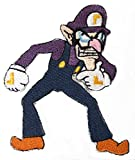 Waluigi Patch Embroidered Iron on Badge Aufnäher Kostüm Fancy Kleid Kart/SNES/Mario World/Super Mario Brothers/Mario Allstars Cosplay