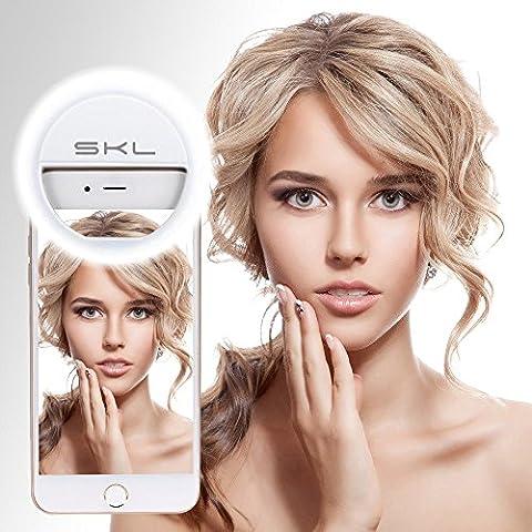 Selfie Ring Light Flash Clip 36 Led Webcast y Vídeo Llamada Esencial Para Móvil Anillo Anular Luz Aumentada Más Belleza