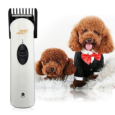 Ckeyin ® Tondeuse électrique sans fil Rechargeable pour Chien / Chat / Animaux