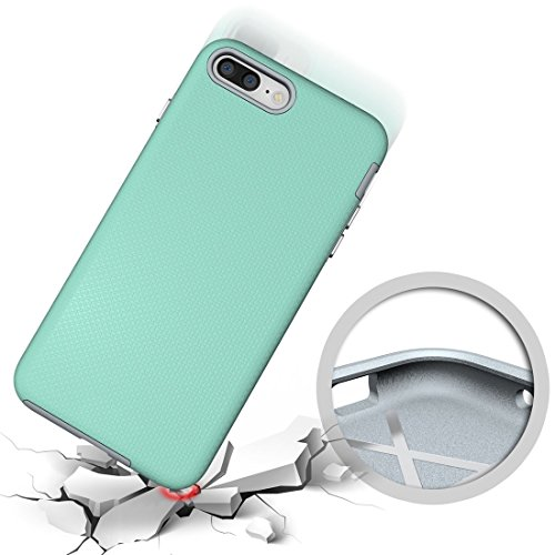 Hülle für iPhone 7 plus , Schutzhülle Für IPhone 7 Plus Ball Texture Anti-Rutsch PC + TPU Schutzmaßnahmen Rückseiten Fall Fall ,hülle für iPhone 7 plus , case for iphone 7 plus ( Color : Black ) Green
