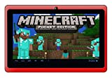 """Google Android 7"""" Tablet PC featuring Minecraft (Red)"""