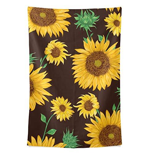 Painted Sunflower Wandteppich Wandbehang Cool Post Print Für Wohnheim Home Wohnzimmer Schlafzimmer Tagesdecke Picknick Bettlaken 80 X 60 Zoll -