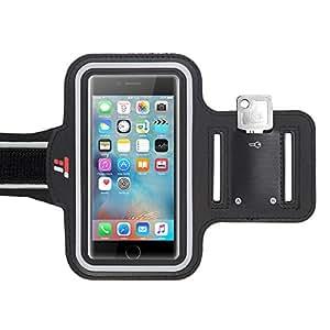 Sportarmband TaoTronics Handyhülle mit Wasserfestem Bildschirmschutz, Reflektorstreifen, Schlüsselhalter, Kartenhalter, kompatibel mit iPhone 6S/6, Galaxy S7, iPhone SE, 5/5C/5S usw.