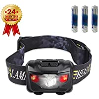 STCT Waterproof Red Light LED Head Torch, Light Weight High Adjustable Headlamp with Five Modes of Lighting for Reading, Running, Camping, Fishing(160LM, 3W, AAA Batteries Included)
