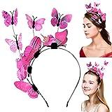 outgeek Party Haube, Frauen Haarband Kreative Elegante Schmetterling Design Haarband Party Stirnband für Party Geburtstag