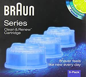 NEW Braun Series 3 5 7 CCR3 Shaver Clean & Renew Refills CONTAINS 3-Pack