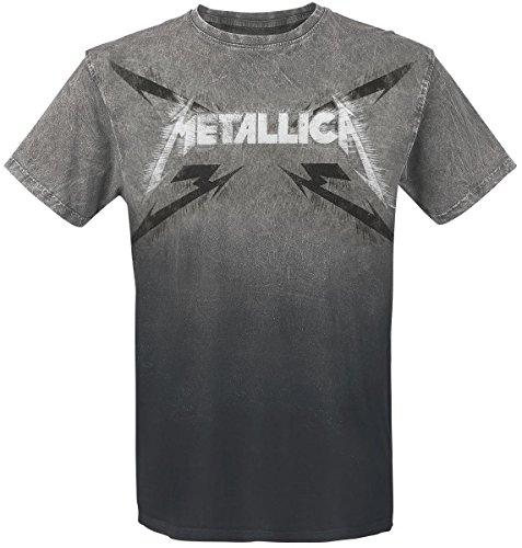 Metallica Spiked Logo T-Shirt nero/grigio M