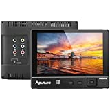 Aputure VS-2 FineHD 7 Inch Ultra HD 1920x1200 LTPS Camera Field Monitor Viewfinder Support HDMI YPbPr AV Interface Features Peaking Highlight Focus-Assist Functions and Exposure