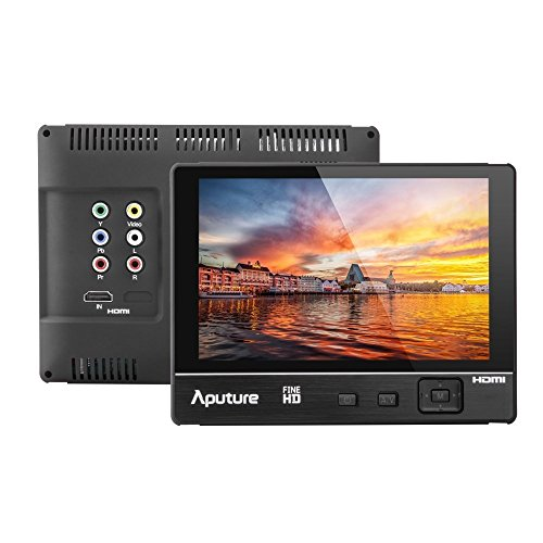 Aputure VS-2 FineHD 7 Inch Ultra HD 1920x1200 LTPS Camera Field Monitor Viewfinder Support HDMI YPbPr AV Interface Features Peaking Highlight Focus-Assist Functions and Exposure Control for Perfect Exposure