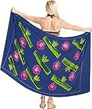 LA LEELA Bademode Frauen Anzug Handtuch Pareo Wrap Sarong Baden Blau_X898 78'X42'