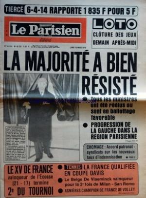parisien-libere-le-no-10727-du-19-03-1979-la-majorite-a-bien-resiste-tous-les-ministres-ont-ete-reelus-ou-sont-en-ballottage-favorable-progression-de-la-gauche-dans-la-region-parisienne-chomage-accord-patronat-syndicats-sur-les-nouveaux-taux-d-39-indemnisation-le-xv-de-france-vainqueur-de-l-39-ecosse-21-17-termine-2e-du-tournoi-tennis-la-france-qualifiee-en-coupe-davis-le-belge-de-vlaeminck-vainqueur-pour-la-3e-fois-de-milan-san-remo-asnieres-champion-de-france-de-volley