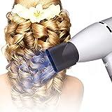 WUHX Sèche-Cheveux ionique négatif, sèche-Cheveux à Grande Puissance, adapté aux familles et aux Salons, Vent Froid et Chaud, Faible Bruit avec Peigne concentrateur à diffuseur 110-240V