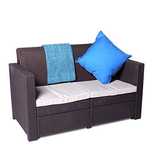 Keter Limousine Rattan Style 4 Seat Garden Furniture Lounge Set Includes Cu