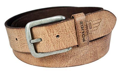Police Men's Belt (PTB0006_FAWN_Large)