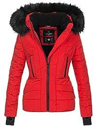 3bb6812fa8e1 Navahoo Damen Winter Jacke warm gefüttert Teddyfell Stepp Winterjacke B361