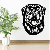 3D-Look Papier Wandtattoo Aufkleber-Sticker Treuer Rottweiler