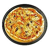 lennonsi Utensilio para Hornear de 2 Piezas 12 Pulgadas Accesorio para Hornear fácil de Usar Plato para Hornear de Pizza Platos antiadherentes para cocinar