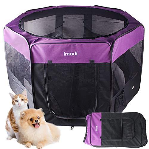 Maxmer Recinzione per Cani Gatti Interno Pieghevole Recinto per Animali Domestici Tenda Box per Cuccioli Viaggio in Nylon