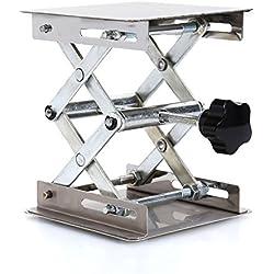 10,2x 10,2cm Scientific Lab laboratoire Ciseaux Jack, Acier inoxydable Lab plate-forme de levage support Rack Ciseaux Lab-lift Lifter contrôle manuel